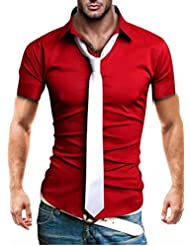 "Kayhan Hombre Camisa Slim Fit Modello ""Corta"""