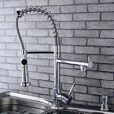 Küchenarmaturen Küchenarmatur Zeitgenössisch Mit ausziehbarer Brause/Vorspülung Messing Chrom -