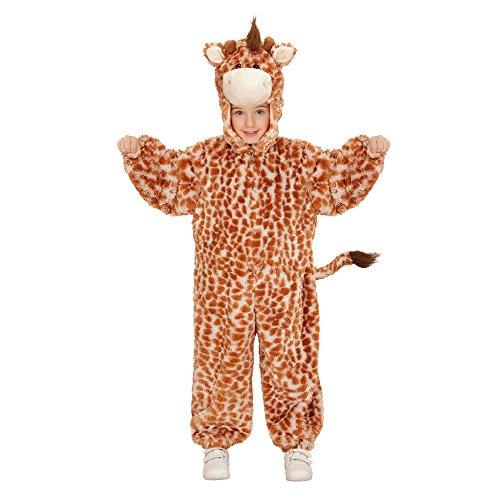 Widmann 98107 - Kinderkostüm Giraffe aus Plüsch, Overall mit Kapuze und (Giraffe Mit Langem Hals Kostüm)