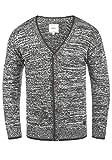 Redefined Rebel Miles Herren Strickjacke Cardigan Feinstrick Mit V-Ausschnitt und Knopfleiste Aus 100% Baumwolle, Größe:M, Farbe:Forged Iron