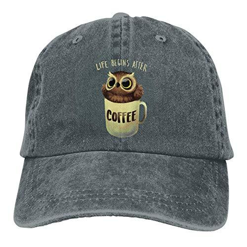 Night Owl Unisex Washed Adjustable Vintage Cowboy Hat Denim Baseball Caps Multicolor3