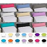 (Pack 2x75/80cm Celeste) FUNDA ALMOHADA LISA VERANO PARA TODAS LAS MEDIDAS 50% Algodón 50% Microfibra. Fácil lavado, planchado y duraderas (Pack 2x75/80cm, Celeste)