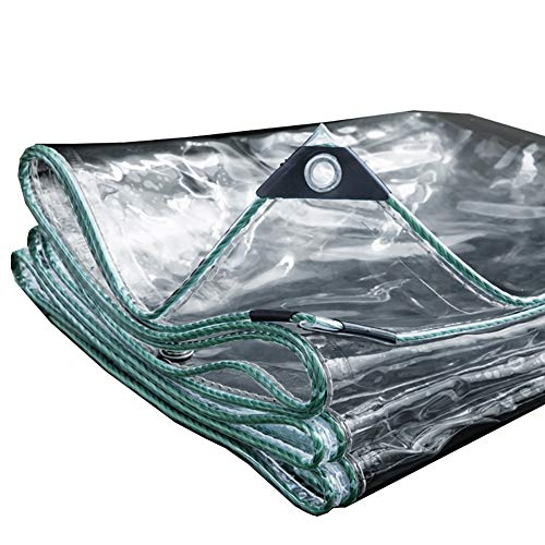 Bâche imperméable transparente à double face épissure de tente de résistance à la déchirure d'ombrage auvent de tente - 500g / (taille : 3×4m)
