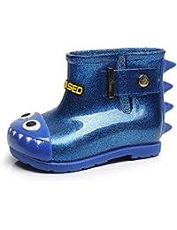 OHQ Botas De Lluvia para BebéS De Goma De TiburóN Infantil Impermeable para NiñOs Zapatos para NiñOs Martin Botines NiñAs…