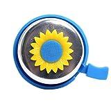 WINOMO Sonnenblume Horn Kinder Fahrrad Glocke Lenker Klingel Ring (blau)