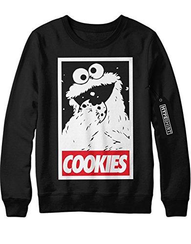 nster Cookies Sesame Street Hipster Sesam Straße Keks C980015 Schwarz M (Sesame Street-cookie Monster-kostüm)