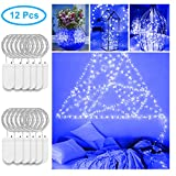 Starry String Light 12 PCS, Govee 1m/3.3ft Fairy Copper Wire Light 20 LEDs Waterproof Indoor Fairy Light Battery Operated (Blue)