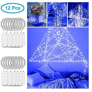 12 pack Cadena de Luces LED, Govee 1m/3.3ft Luces de Hadas 20 LEDs Impermeable Potencia 3 x Pilas AA (No Incluidas) para Iluminación DIY, Navidad y Fiesta