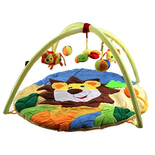 Biene Homyl Baby Kleinkind Activity-Decke Krabbeldecke Erlebnisdecke Spieldecke mit Spielbogen Spielmatte 95*50