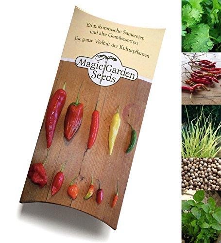 Saatgut Set: 'Kräuter der thailändischen Küche ', 4 typische aromatische Kräuter & Gewürze