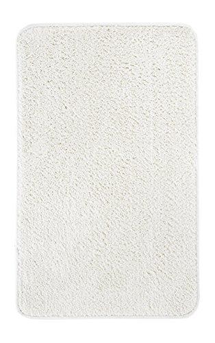 Andiamo waschbare Microfaser Badematte, Badteppich Oeko-Tex 100-Badvorleger Eckig, creme - weiß, Polyester, 70x120 cm