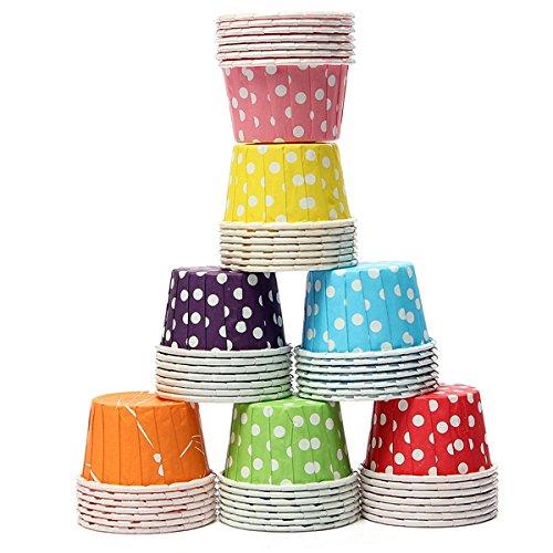 Aliciashouse 100 Pezzi di Carta Cupcake Liner Muffin Cassa di