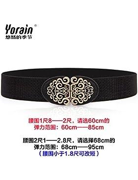 SILIU*Cintura elástica de 4 cm paquete estrecho cinturón tensar la correa, vestidos de verano fajas decoradas...