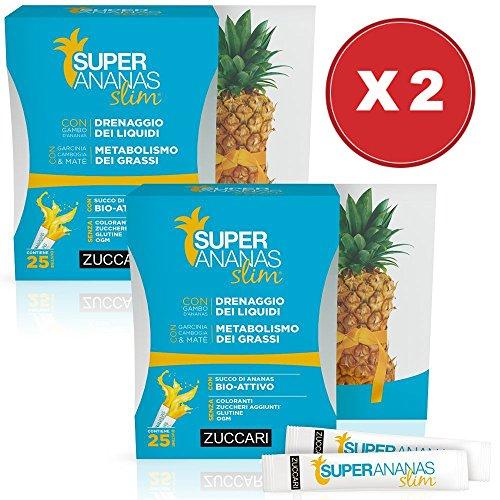 Offerta! super ananas slim 2 confezioni da 250 ml - zuccari
