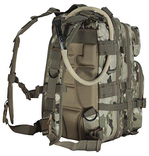 4MORELOVE 4Morelove Unisex Level III Assault Pack, Woodland Camo