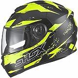 Shox Assault Trigger Motorrad Roller Helm XL Schwarz/Fluro