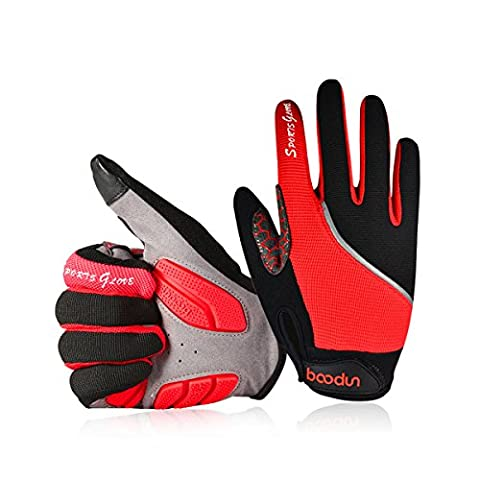 Riding Gloves, Youngdo Windproof Full Finger Cycling Gloves, Skidproof Touchscreen Sports Gloves,Mountain Bike Gloves Road Racing Bicycle Gloves,Riding Gloves,Work Gloves for Cycling Skiing Hiking Hunting Climbing Camping for Men and Women (M (19-21 cm))