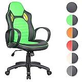 SixBros. Racing Optik Sportsitz Bürostuhl Gaming Schreibtischstuhl Drehstuhl Schwarz