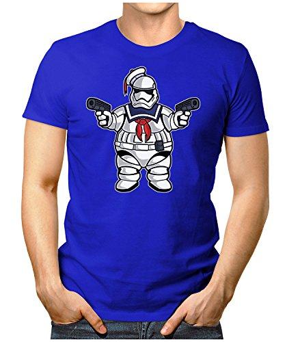 PRILANO Herren Fun T-Shirt - MARSHMALLOW-TROOPER - Small bis 5XL - NEU Blau