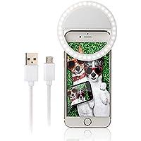 Cewaal Ring Light SG-11 para cámara [batería recargable] Selfie LED Camera Light para iPhone iPad Fotografía teléfonos