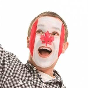 Kit de maquillage visage Drapeau Canada Rouge et Blanc