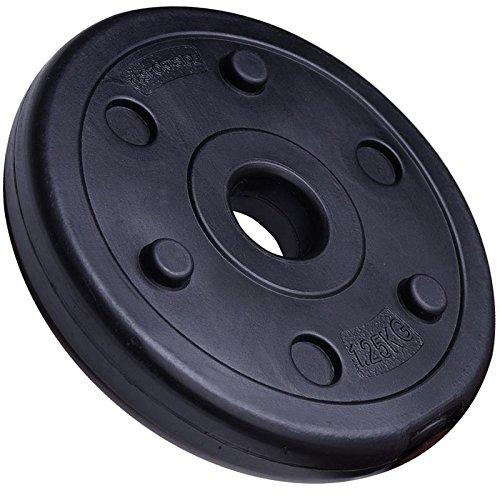 ScSPORTS® Hantelscheibe einzeln 1,25 kg, aus Kunststoff mit Zement gefüllt, 30 mm Bohrung, leises, bodenschonendes Hanteltraining