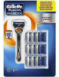 Gillette Fusion Proglide Rasoir pour Homme Doté de la Technologie Flexball avec 9 Recharges
