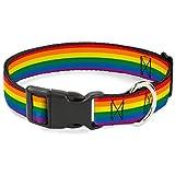 Buckle Down pc-w30693-wm Flagge Gay Pride Rainbow Kunststoff Clip Halsband, breit Medium/40,6–58,4cm