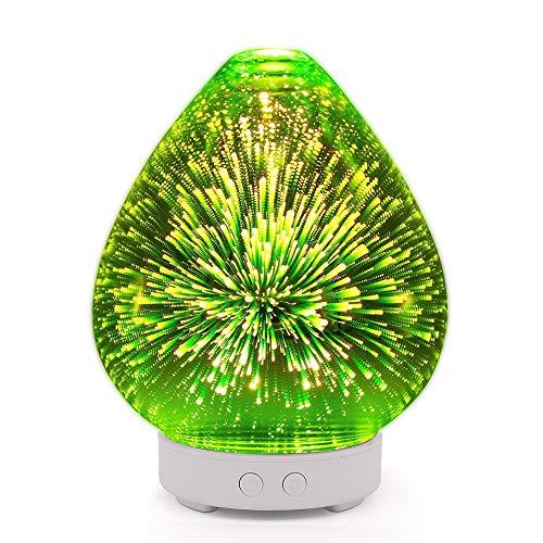 ASDFD Lámpara De Fragancia 3D Máquina De Aromatización De Florero De Vidrio Creativa Dispensador De Aerosol De Tiempo Humidificador De Incienso De Aire