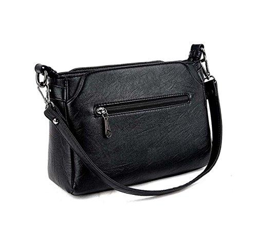 Wildtasche Lingge Dame Tasche Einfache Schultertasche Mode Messenger Tasche Paket Black