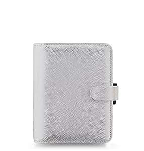 Filofax–Agenda 18–028755, Pocket organizer–argento metallizzato
