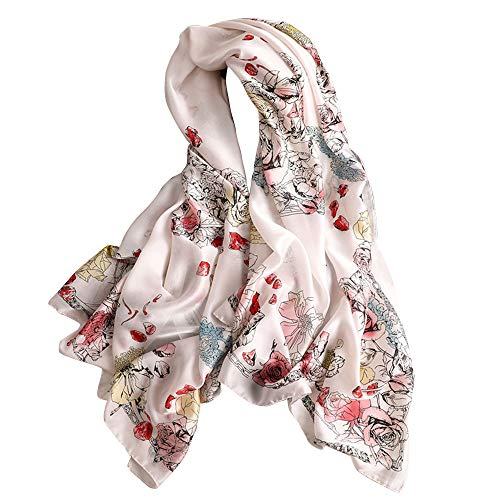 aae36d87c Women Mulberry Silk Shawl Scarf Wraps Large format Multi-use Scarves Shawl  | Head Wrap | Sarong- For Daily Wear | Wedding | Sun Protection | Neck  Protection ...