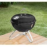 Noir Couleur Bistro Portable Comprend pour barbecue avec poignée