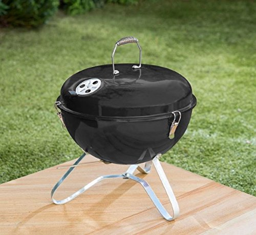 Schwarz Farbe Bistro tragbar inkl. BBQ Grill mit Griff