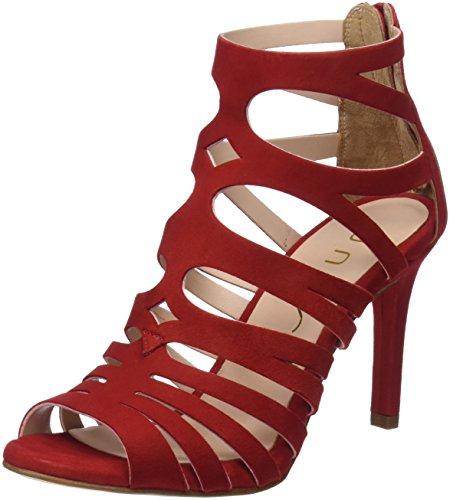 Wandeo_KS, Sandales Bout Ouvert Femme, Rouge (Red), 41 EUUnisa