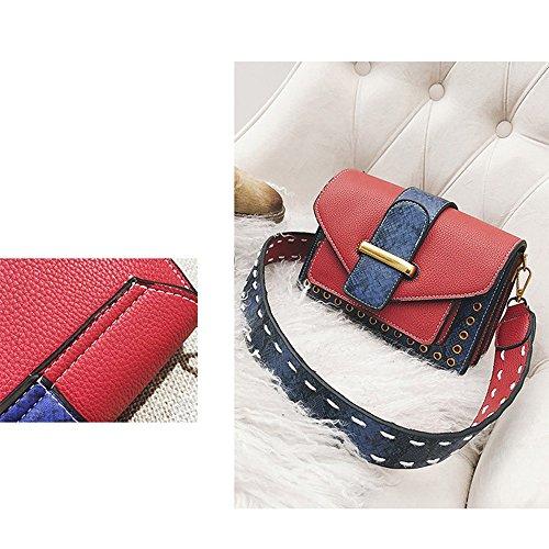 7c82952de5df3 ... Metallknopf kleine quadratische Taschen Schulter Messenger s Bag Frauen  Tasche Grid Umhängetaschen Persönlichkeit Snake Skin Texture Muster
