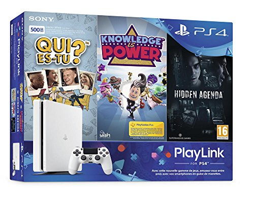 PS4 500 Go Blanche + Qui es-tu ? + Knowledge Is Power + Hidden Agenda
