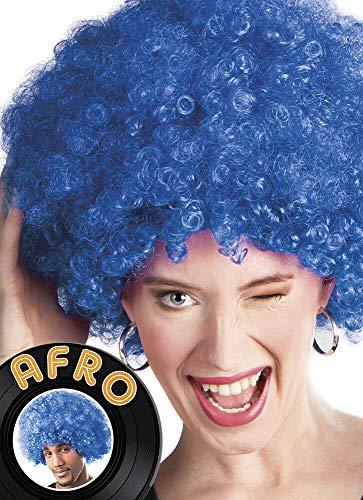 PREMIUM QUALITÄT PERÜCKE Karneval Fasching Perücke als Bob Party Cabaret Unisex 70er Jahre Funky Afro Perücke - vertrieb durch ABAV (Afro Blue 86023)