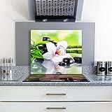 Gsmarkt   Herdabdeckplatte Schneidebrett Spritzschutz 60x52   Bild auf Glas   Sicherheitsglas Gehärtetes Glas Bild   Motiv Stein