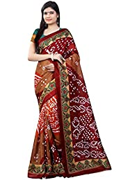 Zypara Cotton Silk Saree (Bandhani_ Multi_Multi)