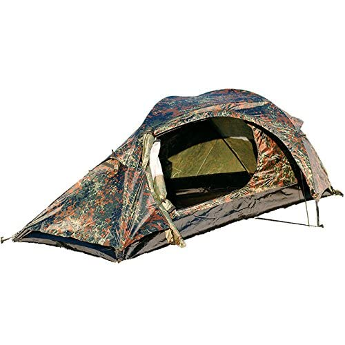 51ospXItiKL. SS500  - Mil-Tec Unisex_Adult Einmannzelt Recom Flecktarn One-man tent, camo, Size