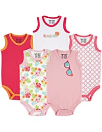 a00abedc94 Luvable Friends Baby Mädchen (0-24 Monate) Body Rosa Girls Pink Floral S