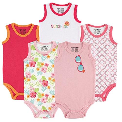 Luvable Friends - Body - Bébé (Fille) 0 à 24 Mois Rose Girls Pink Floral 6-9 Mois - Rose - S