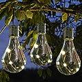 Solar Lichterkette Kugel Wasserdicht mit Lichtsensor Weihnacht sbeleuchtung, Beleuchtung für Haushalt Außen Garten LED Licht Lampen Birnen im Freien LED Glühbirne Kronleuchter Solarlampen