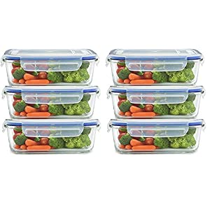 JN-STORE 6-Piece Plastic Air Tight Container, 250ml, Transparent