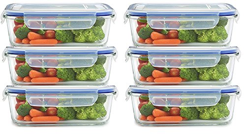JN-STORE Set of 6pcs Plastic Air Tight square Storage box Container Cereal Dispenser Jar 250ml Idle For Kitchen- Food Rice Pasta Pulses Container box