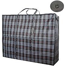 Artone Extra Groß Wasserdicht Stark Wäsche Lagerung Einkaufstasche Wiederverwendbar Reißverschlusstasche Schwarz