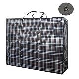 Artone Extra Groß Wasserdicht Stark Wäsche Lagerung Einkaufstasche Wiederverwendbar Reißverschlusstasche