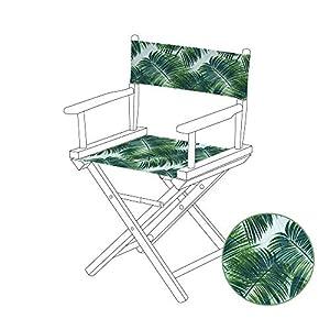 Gardenista wasserabweisender Ersatzbezug mit einem Palmendesign für einen Regiestuhl.
