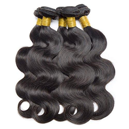 Vipbeauty - 3 extension mosse di veri capelli vergini brasiliani (50,8 cm / 55,8 cm / 61 cm), 8a, colore naturale 1#b